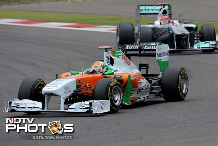 Force India had a strong finish through Adrian Sutil who completed the race on the sixth position.