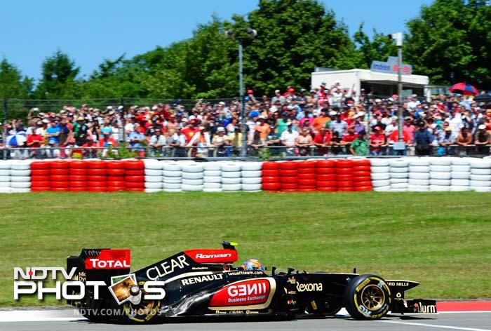 Romain Grosjean was quick during the early stages of the race and put him under pressure before they pitted in succession. Grosjean was made to give up P2 to teammate Raikkonen at the end of the Grand Prix.