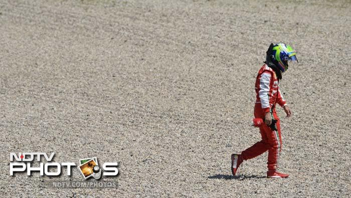 An early spate of incidents saw Ferrari's Felipe Massa spin off on lap three.
