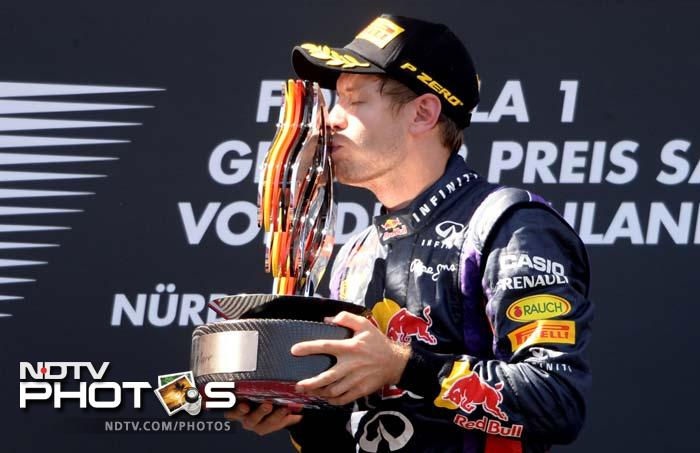 Sebastian Vettel extended his lead at the top of the drivers championship with his first victory at his home circuit at Nurburgring.
