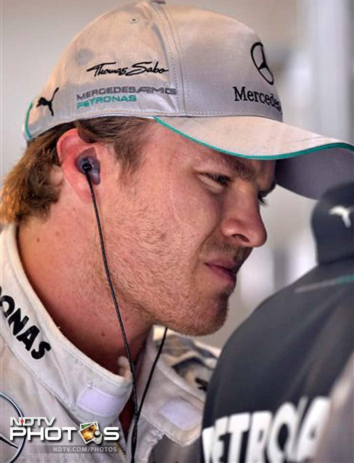 Lewis Hamilton's team-mate German Nico Rosberg missed the cut and qualified 11th.