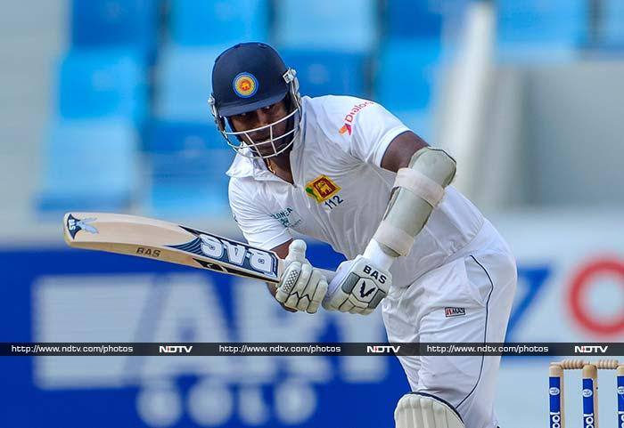 Angelo Mathews stroked the ball well and was unbeaten on 42 at stumps.