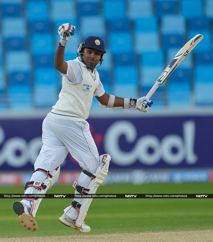 Mehal Jayawardene's 106 not out saw Sri Lanka through to 318/4 on Day 2 of the second Test against Pakistan in Dubai. (AP Photos)