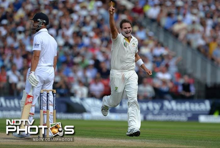 The Australians were in command as Trott and Cook fell early.