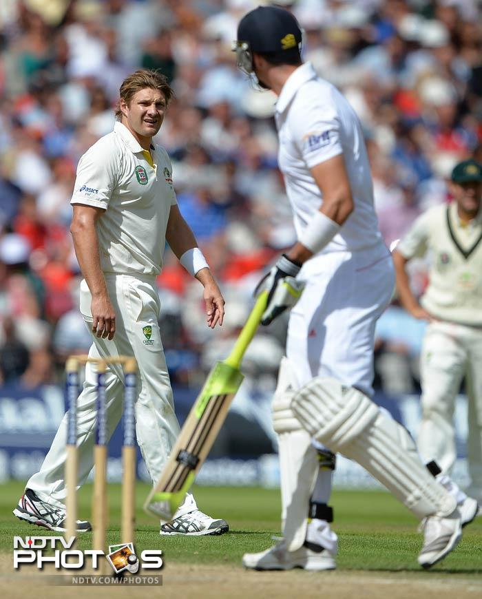 Kevin Pietersen stood like a rock as England looked to avoid the follow-on.