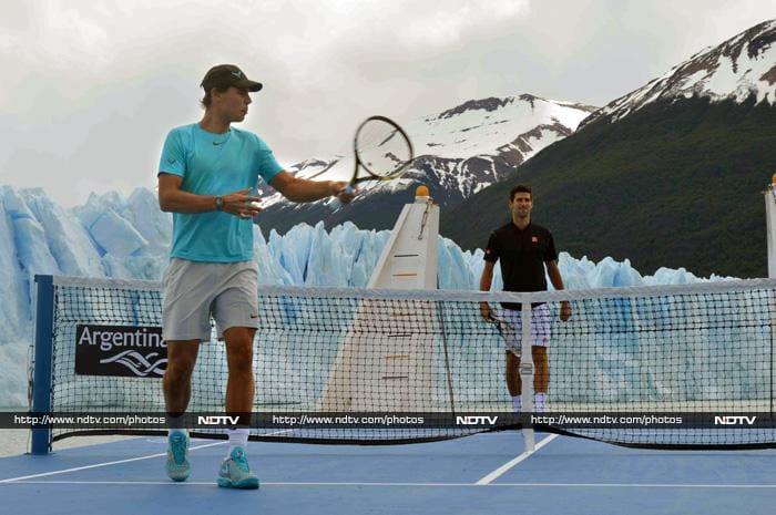 The exhibition match - titled Tennis in the Millenary Ices - sought to showcase the beauty of the region.