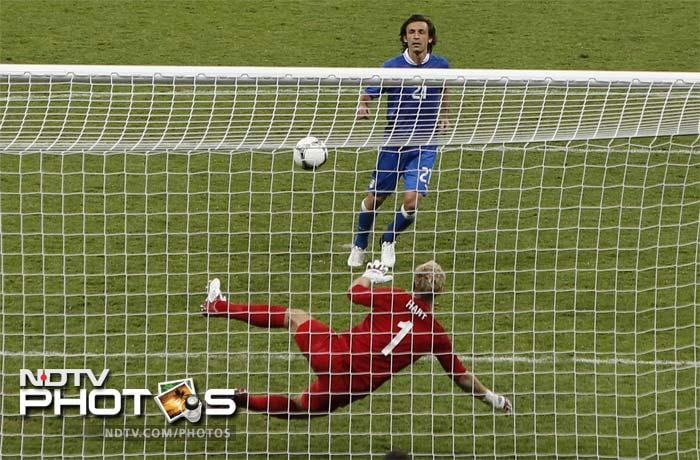 COOL ANDREA PIRLO<br><br> The shot is named after Antonin Panenka but Pirlo perfected it with such lass against England that fans of penalty kicks may just start referring to this shot rather than the one in 1976 that saw the birth of this technique.