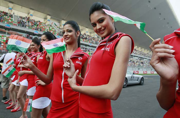 "It has to be an experience of a lifetime for the grid girls though, to be part of the race. For the women in the picture here, it would be more special as they were part of the first-ever.<br><br><a href=""http://sports.ndtv.com/formula-1/photos/?album_id=11383&pagesize=15#photos"">F1: Pit babes world over</a>"