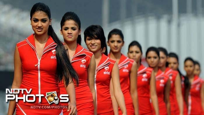 These are the girls from the inaugural edition of the Indian Grand Prix.