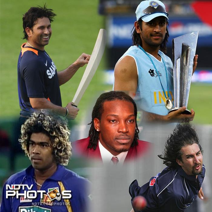 Sachin Tendulkar has taken his fans by surprise with his new hairstyle. But he is not the first cricketer to experiment with his locks. Take a look: