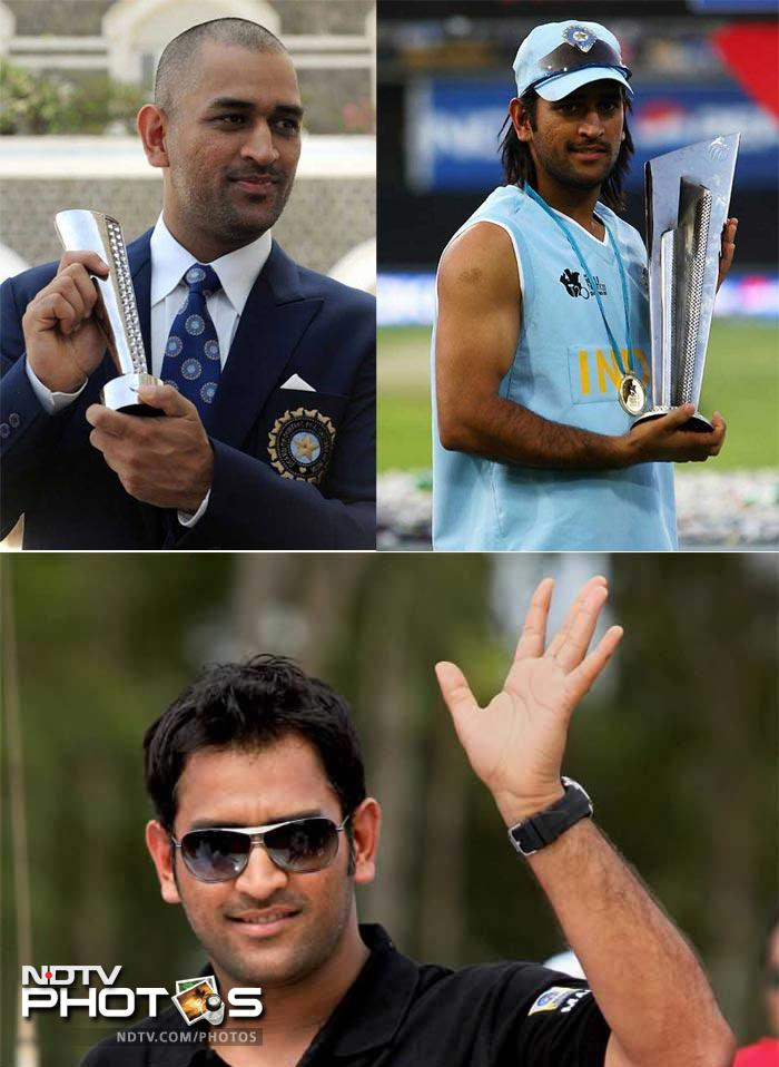 <b>MS Dhoni: </b>Captain Cool's strength was his hair but Dhoni has no issues losing his golden locks. He is one cricketer who has experimented with his hair the most.