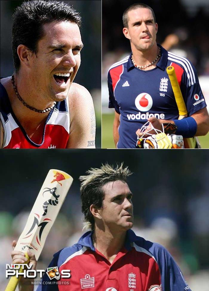 <b>Kevin Pietersen: </b> From the skunk look, he went blonde and then shaved his head. Kevin Pietersen is as unpredictable with his hairstyles as he is with batting.