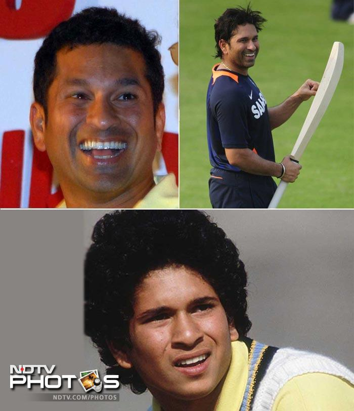 <b>Sachin Tendulkar: </b> Shedding his curly-haired teenager look behind, Sachin went for short hair. And now at 38, he has decided to get them straight.