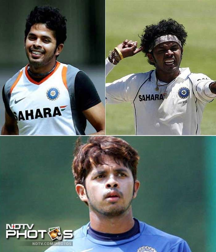 <b>Sreesanth: </b> Colour or no colour, this Kerela speedster knows how to carry his hairstyles which complement his vibrant personality.