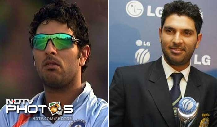 <b>Yuvraj Singh: </b> From the dishevelled look to the crew cut, Yuvi definitely knows what style suits him.