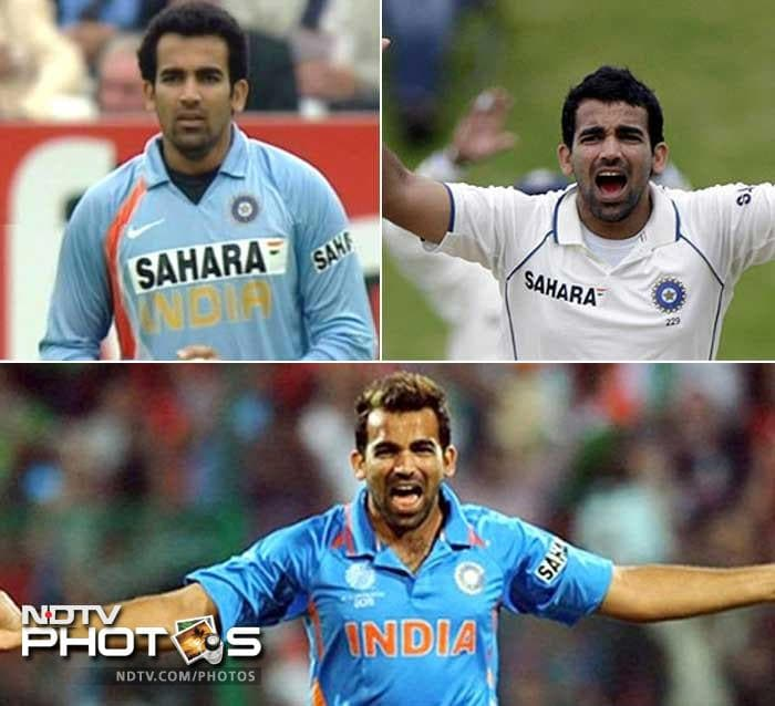 <b>Zaheer Khan: </b> He came with a mop on his head and then trimmed it down before sporting a glazed look.