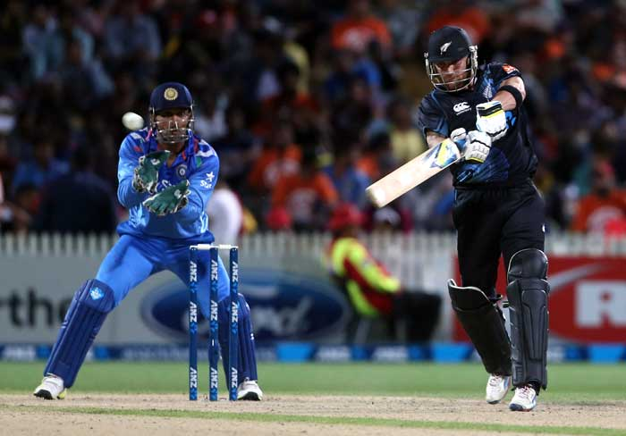 With close to a run-a-ball needed in the final 15 overs, skipper Brendon McCullum walked out to bat and he meant purpose straightaway. His unbeaten 49 came off 36 balls and hit 4 fours and 3 sixes.