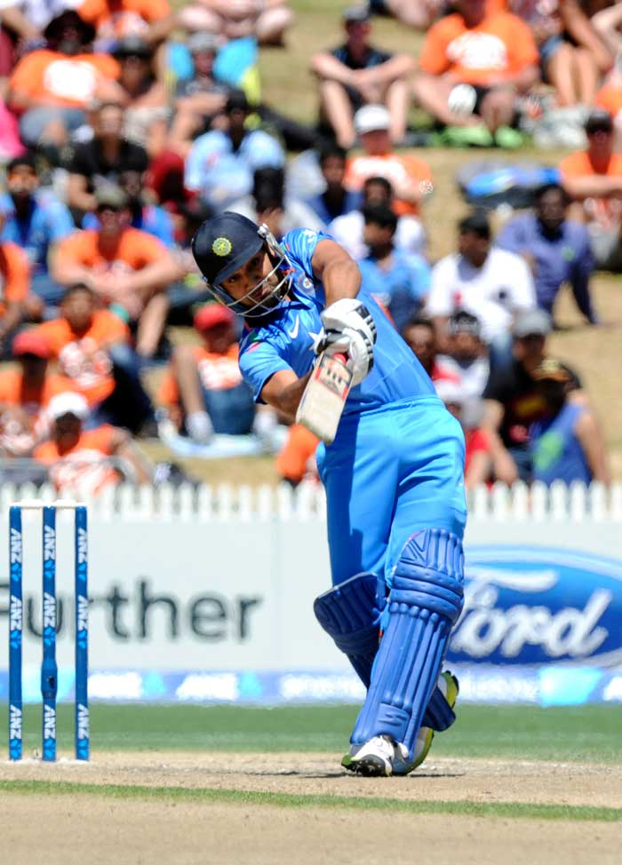 Out of form Rohit Sharma converted his steady start this time around and scored a 94-ball 79, that provided a platform for Dhoni and Co. to attack in the latter part of the innings.