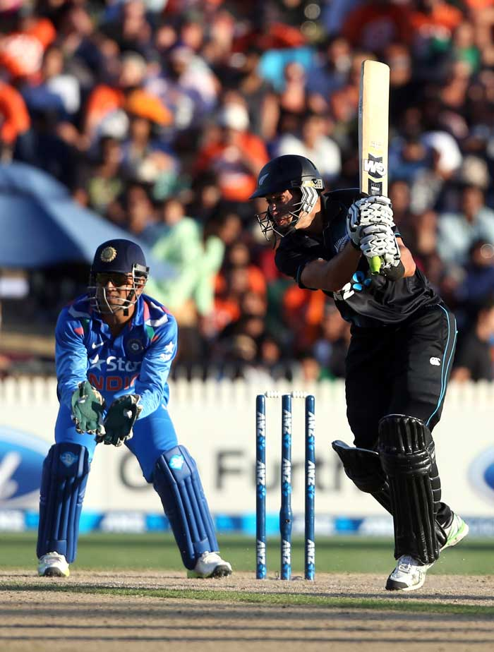 Ross Taylor had to then dig deep with Kane Williamson for the third-wicket partnership as the Indian bowlers were on top. The right-handed former skipper first concentrated on taking the ones and the twos before going for big strokes.