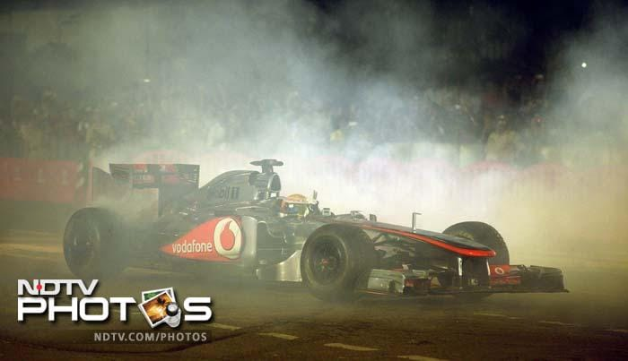 Hamilton burns rubber and showcases his skills in the driver's seat to leave his fans screaming for more.