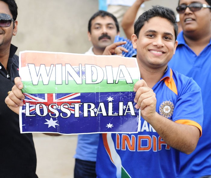 An Indian supporter holds up a placard after India won the 2012 ICC U-19 Cricket World Cup. (Photo: ICC/Getty Images)