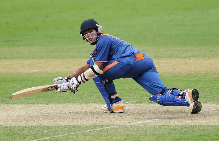 Smit Patel bats during the 2012 ICC U-19 Cricket World Cup Final between Australia and India at Tony Ireland Stadium. (Photo: ICC/Getty Images)