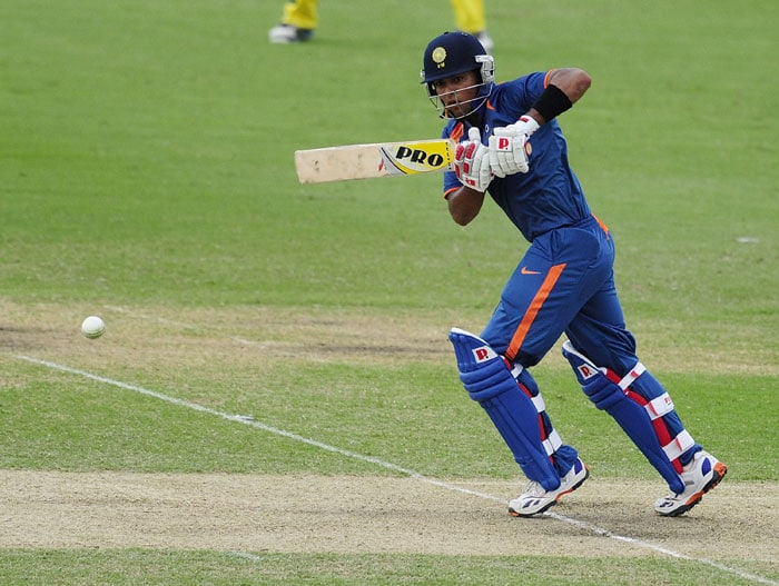 Unmukt Chand bats during the 2012 ICC U-19 Cricket World Cup Final between Australia and India at Tony Ireland Stadium. (Photo: ICC/Getty Images)