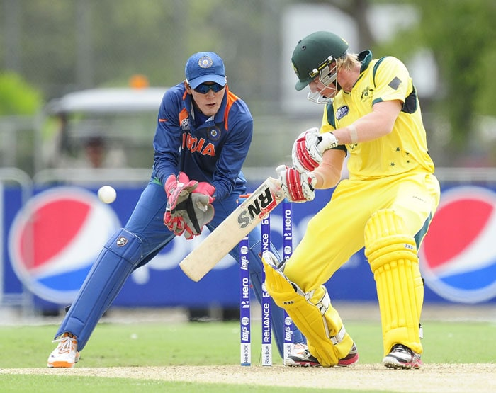 It was William Bosisto who provided the balance required and scored an unbeaten 87 to rescue Australia and get them to a repectable 225/8, giving their bowlers something to defend against the Indian batting. (Photo by Ian Hitchcock-ICC/Getty Images)