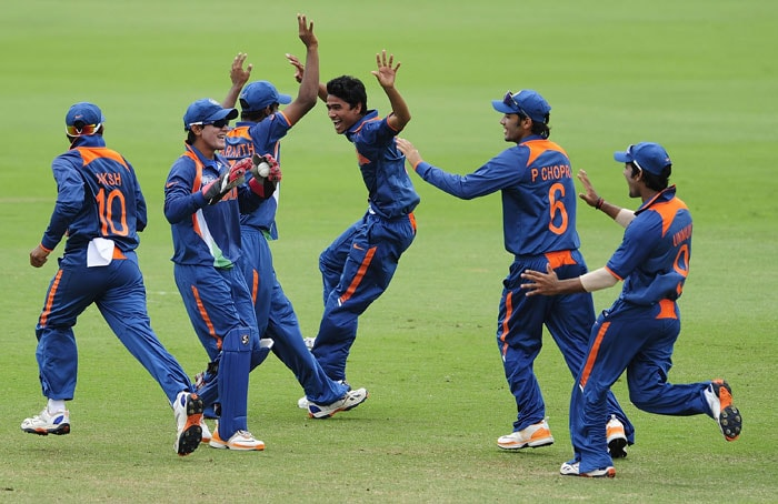The Indian bowlers gave a spirited performance to restrict Australia to 225/8 from 50 overs in the Under-19 World Cup Final at Townsville.