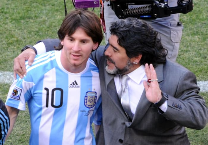 <b>The old and young Maradonas</b><br><br>While one of them was searching for glory as a player, the other was trying to find it as a coach. Lionel Messi, who has already won the FIFA player of the world award and Diego Maradona, a two-time World Cup winner, both failed to click as player and manager and slumped to a humiliating 4-0 defeat at the hands of Germany.