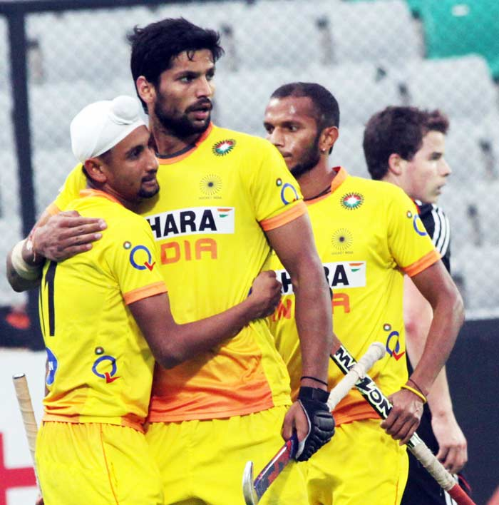 Rupinder Singh and Mandeep Singh brought the game back in the balance with goals in the 39th and the 41st minute to take the scoreline to 3-3.