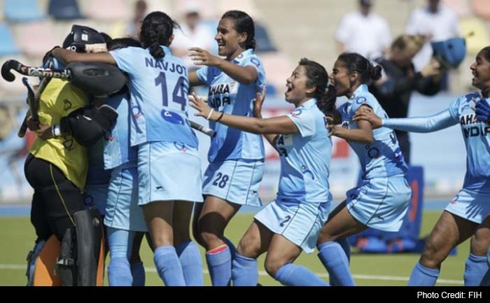 Hockey India has announced that each member of India's junior women hockey team which won the country's first ever bronze medal at the World Cup today will be rewarded with a cash prize of Rs one lakh.