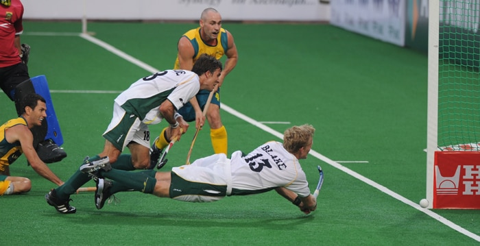 Desmond Abbott, Fergus Kavanagh and Matthew Butturini were the other scorers in a spectacular goal spree at the Dhyan Chand National Stadium in the Indian capital. (AFP Photo)