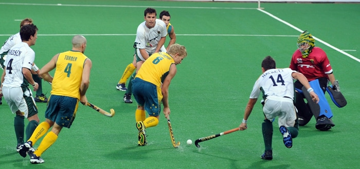 Title favourites Australia swept aside South Africa 12-0 on Thursday to record the biggest victory in the history of the men's field hockey World Cup. (AFP Photo)