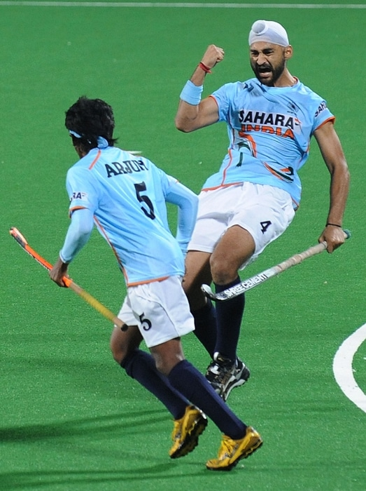 Sandeep Singh (39th) and Gurvinder Singh Chandi (43rd) scored the consolation goals for India. (AFP Photo)