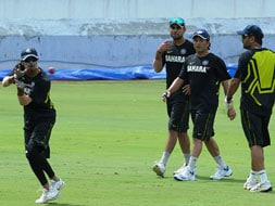 Team India train in Hyderabad