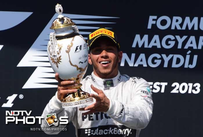 But it was Hamilton's race all the way as the 2008 drivers champion came home 11 seconds clear of his nearest rival.