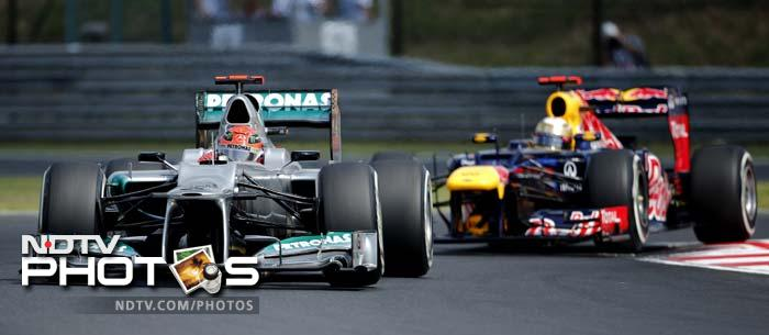 Michael Schumacher had little luck going his way. He will begin from the 17th position with Mercedes AMG teammate Nico Rosberg four places ahead.