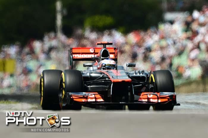 The other McLaren driver - Jenson Button - was the fourth fastest man.