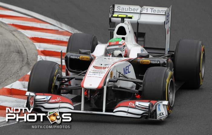 Sauber's young driver Sergio Perez kept up his good form to come in 10th.