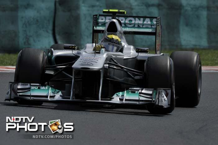Mercedes driver Nico Rosberg will again line-up 7th, a position that seems to have become a favourite with him.