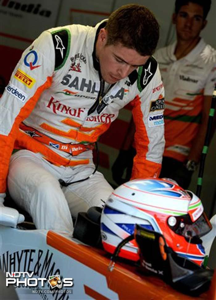 Force India's Paul di Resta had a bad run in Q1 and finished a disappointing 18th. His teammate Adrian Sutil will start 11th on the grid.