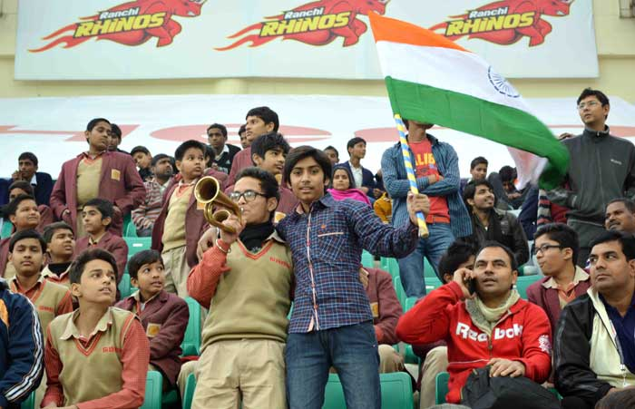 Despite India failing to make it to the semis of the World League Final, there was considerable support for the home team at the Major Dhyan Chand National Stadium in New Delhi.