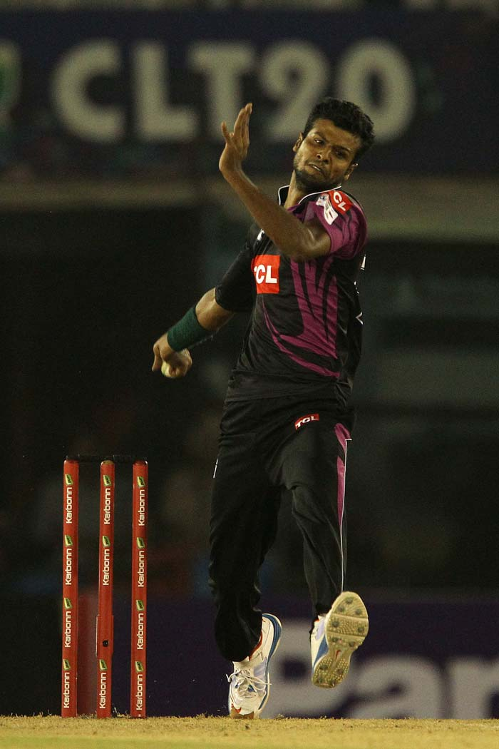 Tall Faisalabad medium pacer struck to remove Parthiv, who went for a belligerent pull but was caught at the mid-wicket region.