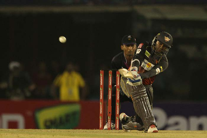 The Sunrisers' chase of 128 began solidly with Parthiv Patel match Shikhar Dhawan shot-to-shot.