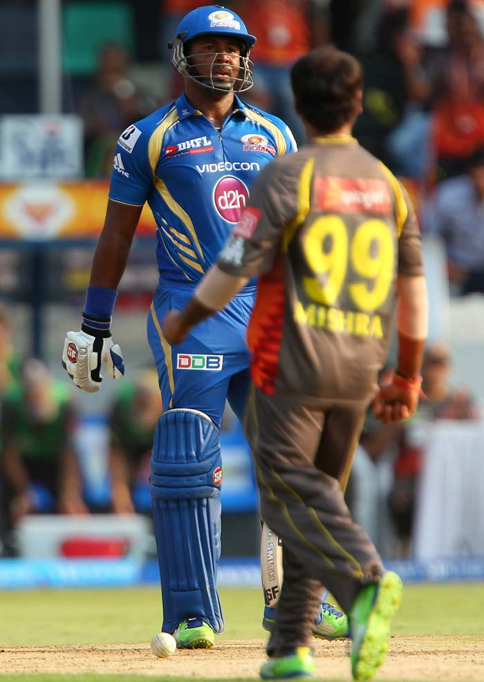The Haryana leg-spinner though, did not have to wait too long for his just reward as Rohit was dismissed in his next over, exactly the same way as Smith got his reprieve. He scored 22 off 22 balls. Smith followed suit and too was dismissed lbw, although the replays proved that the ball had hit his glove, off Mishra. (BCCI Image)