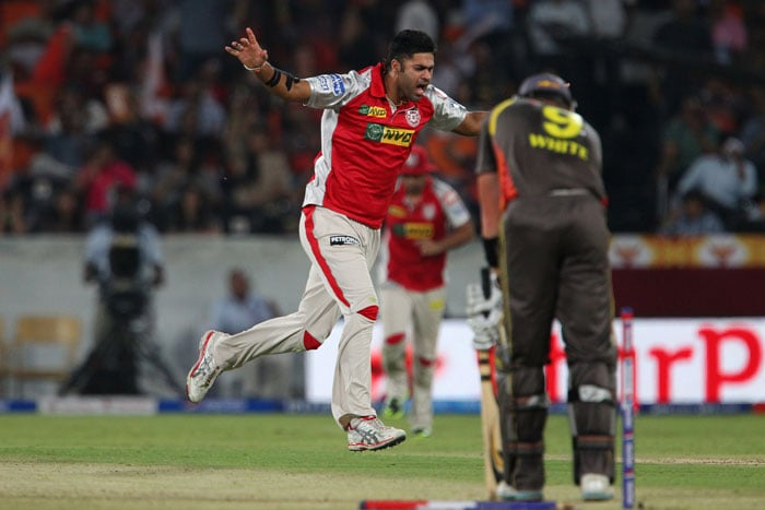 Manpreet Gony gave his heart out for Punjab grabbing crucial wickets of Akshath Reddy and skipper Cameron White. His figures read 1/24 at the end. (BCCI Image)