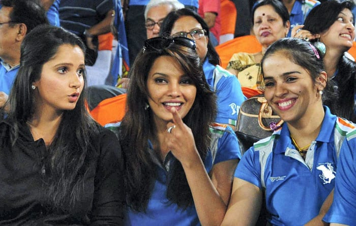 The match was not short of any glamour quotient as local sports personalities like Sania Mirza and Saina Nehwal were seen enjoying the proceedings. Diana Hayden was also present. (Image BCCI)