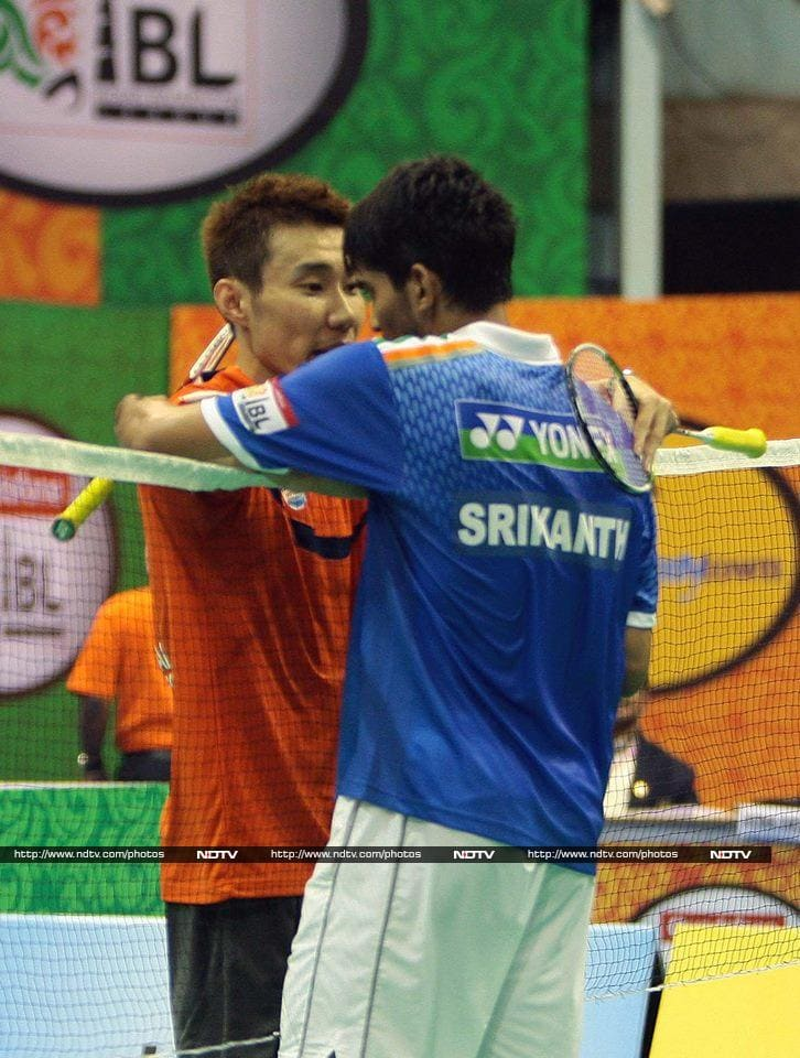 Lee was the superior player on the day but Srikanth fought valiantly.