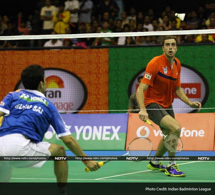 Guru managed to save a matchpoint and pushed the rubber into the decider but the Russian eventually won 21-18, 20-21, 11-9.